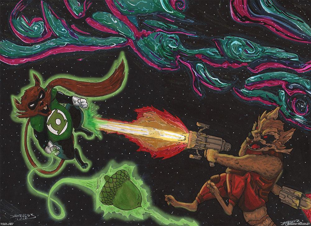 Green Lantern vs GOTG - Ch'p VS Rocket